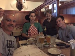 John, Jared, Grandma Diane and Logan